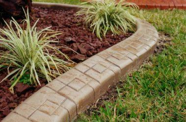 Декоративный садовый бордюр из бетона купить фотопечать на бетоне