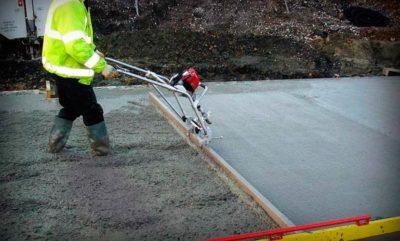 Заливка бетона виброрейкой купить стол письменный цвет бетон
