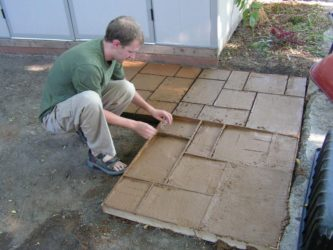 брусчатка в бетоне