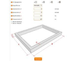 Как рассчитать количество бетона на ленточный фундамент?