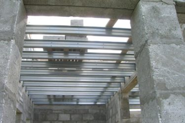 Швеллер для перекрытия между этажами