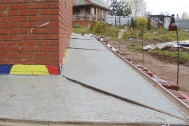 Как железнить бетон на отмостке?