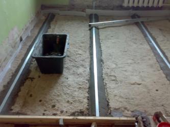 Как сделать маяки для заливки пола бетоном?