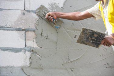 Штукатурка пеноблока своими руками цементным раствором плотность раствора цементного м150