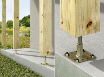 Крепление для деревянных столбов к бетону купить минерал бетон