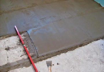 как залить пол цементным раствором ровно