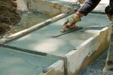 бетон не высыхает