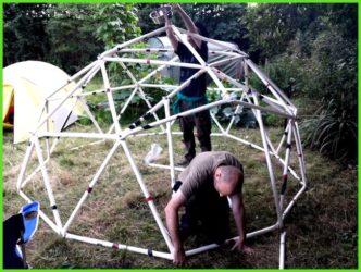 Каркас для палатки из полипропиленовых труб