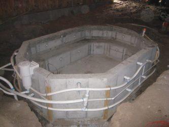 Джакузи своими руками из бетона