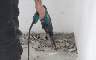 Снятие бетона марки строительных раствором