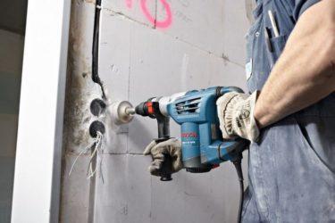 перфоратор просверлить бетон