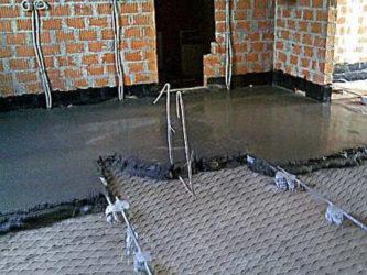 рабица в бетон