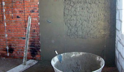 Оштукатуривание цементным раствором кирпича купить керамзитобетон цена за куб