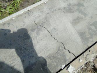 Почему потрескался бетон перевести раствор цементный из кубов в тонны