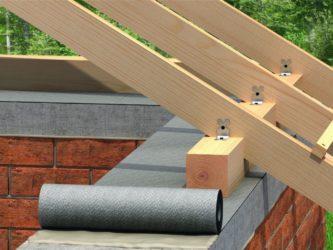 Крепление крыши к стенам из кирпича