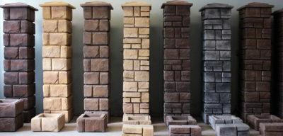Столбы из фибробетона керамогранит на цементный раствор можно ли