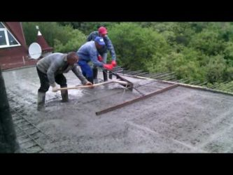 Ровняет бетон заливка свай бетоном