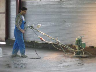 Затирка бетона после заливки