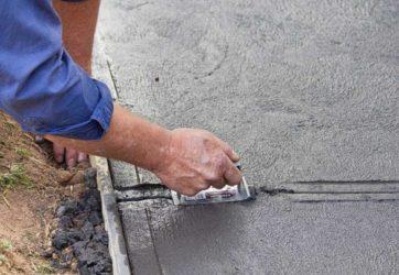 Залить тротуар бетоном замедлитель бетона