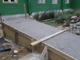 Заливка бетона под наклоном