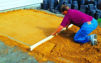 бетон по земле