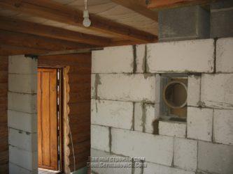 Дымоход через стену из газобетона