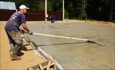 Выравнивать бетон бетон промерзание