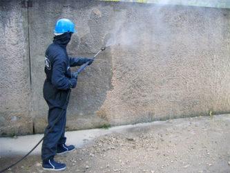 Удаление наплывов бетона приготовл бетона