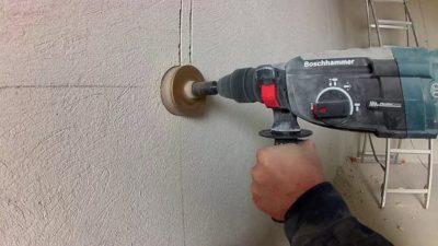 Просверлить бетон коронкой насосы для перекачки цементного раствора
